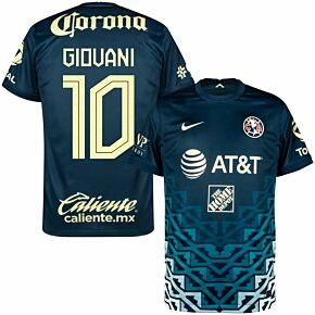 21-22 Club America Away Shirt + Giovani 10 (Fan Style Printing)