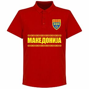Macedonia Team Polo Shirt - Red