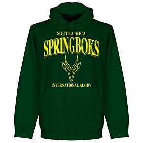 South Africa Springboks KIDS Rugby Hoodie - Bottle Green