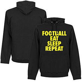 Football Eat Sleep Repeat Hoodie - Black
