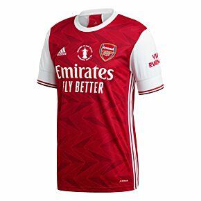 20-21 Arsenal Home Shirt + FA Cup Winners Transfer 2020