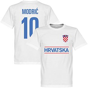 Croatia Modric 10 Team Tee - White