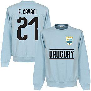 Uruguay Cavani 21 Team Sweatshirt - Sky