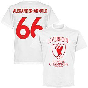 Liverpool 2020 League Champions Crest Alexander-Arnold 66 T-shirt - White