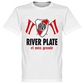 River Plate El Mas Grande Tee - White