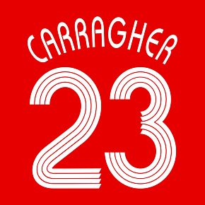 Carragher 23 06-07 Liverpool Home C/L Replica Name and Number Transfer