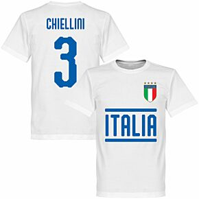 Italy Chiellini 3 Team T-shirt - White