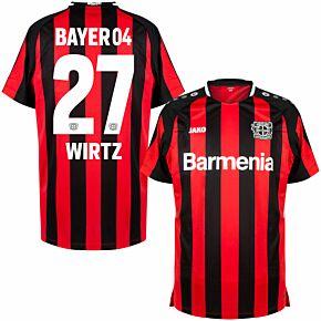 21-22 Bayer Leverkusen Home Shirt + Wirtz 27 (Official Printing)