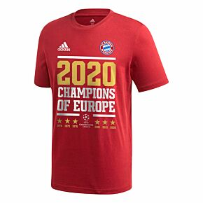 2020 Bayern Munich Official C/L Winners T-Shirt - Red
