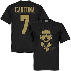 Cantona 7 Silhouette KIDS Tee - Black/Gold