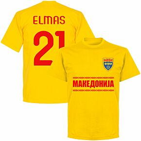 Macedonia Elmas 21 Team T-shirt - Yellow