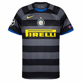 20-21 Inter Milan 3rd Shirt + C/L Starball / Respect Patches