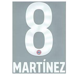 Martinez 8 (Official Printing) - 19-21 Bayern Munich Home