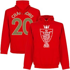"""Liverpool 2020 League Champions Trophy """"Champions 20"""" Hoodie - Red"""