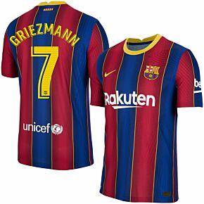 20-21 Barcelona Vapor Match Home Shirt + Griezmann 7 (Match Pro)