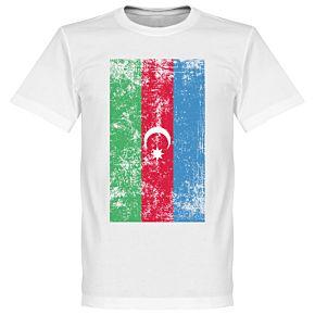 Azerbaijan Flag Tee - White