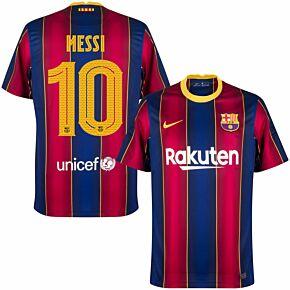 20-21 Barcelona Home Euro Shirt + Messi 10 (Euro)