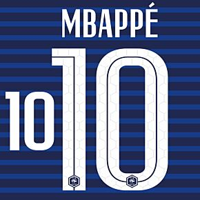 Mbappé 10 (Official Printing) - 20-21 France Home