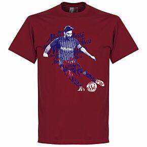 Messi Script KIDS T-Shirt - Chilli Red