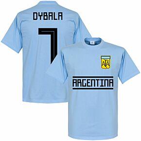 Argentina Dybala 7 Team Tee - Sky