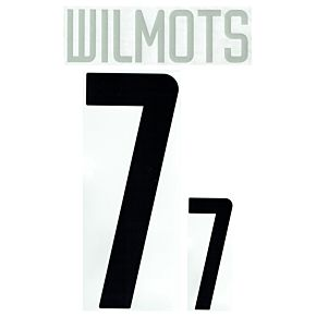 Wilmots 7 - 02-03 Belgium Home Official Name and Number