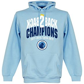 City Back to Back Champions Hoodie - Sky