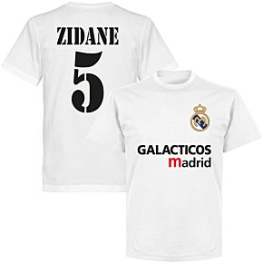 Galácticos Madrid Zidane 5 Team T-shirt - White