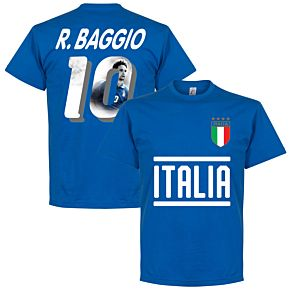 Italy Baggio 10 Gallery Team Tee - Royal