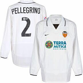 Nike Valencia 2002-2003 Home Jersey Pellegrino No.2 Player Issue - NEW Condition - Size L