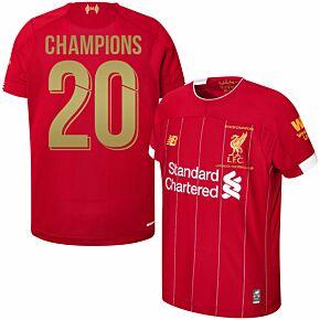 19-20 Liverpool Home P/L Champions Home Shirt + Champions 20 (Gold)