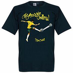 Tim Cahill The Aussie Volley Tee - Navy