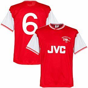1985 Arsenal Home Centenary Retro Shirt + No. 6