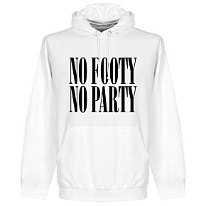 No Footy No Party Hoodie - White