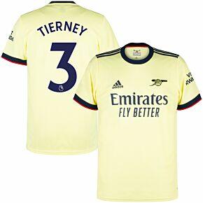 21-22 Arsenal Away Shirt + Tierney 3 (Premier League)