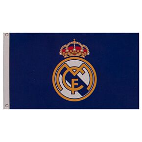 Real Madrid Core Crest Flag (152 x 91cm)