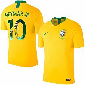 Brazil Home Vapor Match Neymar Jr 10 Jersey 2018 / 2019 (Gallery Style Printing)