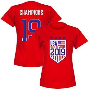 USA Womens World Cup Winners T-Shirt - Red