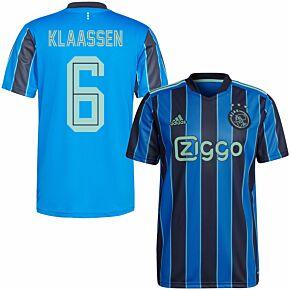 21-22 Ajax Away Shirt + Klaassen 6 (Fan Style Printing)