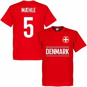 Denmark Maehle 5 14 Team KIDS T-shirt - Red