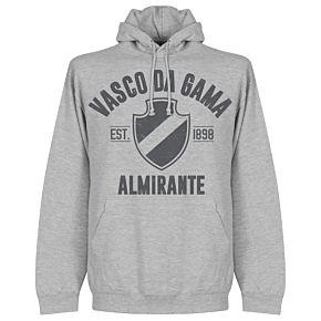 Vasco Da Gama Established Hoodie - Grey