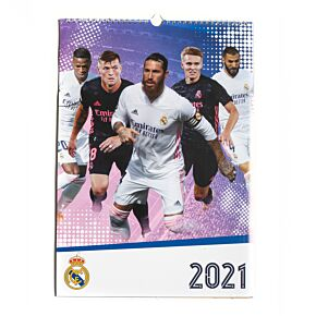 2021 Real Madrid Official A4 Calendar
