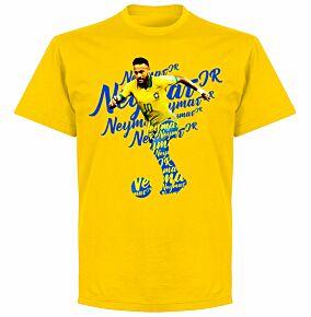 Neymar Script KIDS T-shirt - Yellow