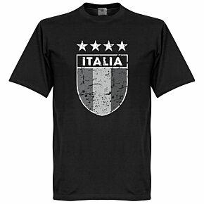 Italia Vintage Crest Tee - Black