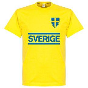 Sweden Team Tee - Yellow