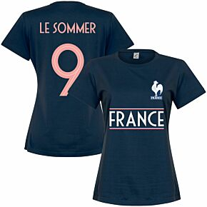 France Team Womens Le Sommer 9 Tee - Royal