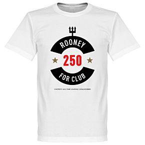 Rooney 250 Club Goals Tee - White