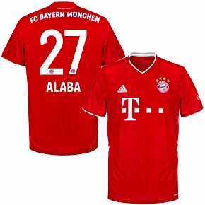 20-21 Bayern Munich Home Shirt + Alaba 27