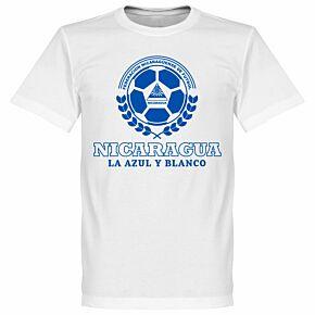 Nicaragua Crest Tee - White