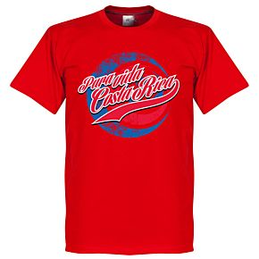 Pura Vida Costa Rica T-shirt - Red