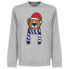Christmas Dog Supporters Sweatshirt (Grey/Blue/White)